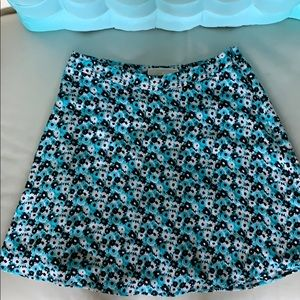 Blue/White/Black Flower Michael Kors Skirt